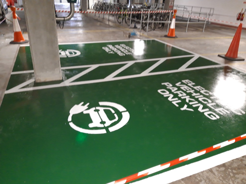 electric car line marking